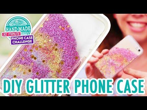 DIY Colorful Glitter Phone Case - HGTV Handmade Phone Case Challenge