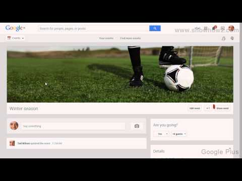 Google+ - How To Share Your Own Event
