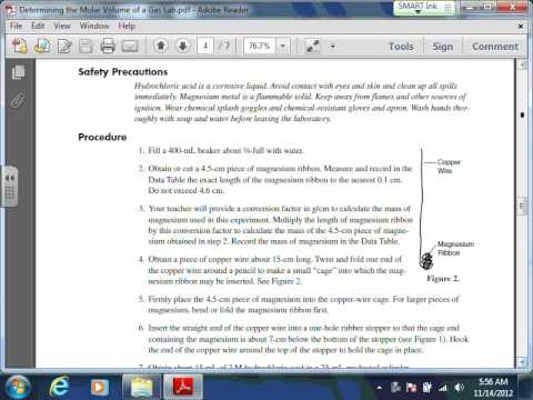 Determining the Molar Volume of a Gas Lab Video Explanation