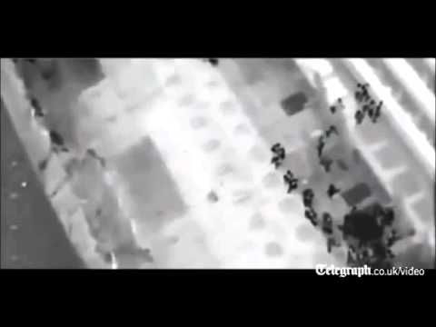 Night vision footage shows Costa Concordia evacuation from the air