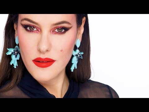 HOT PINK GLAM MAKEUP TUTORIAL - Late 70s Inspired