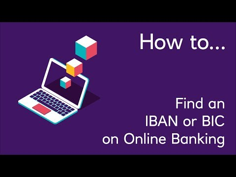 How to Find an IBAN or BIC on Online Banking