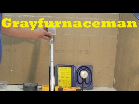 How to test water column gauges for gas furnaces