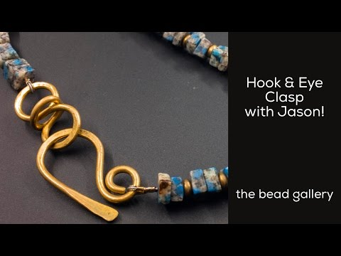 Brass Hook & Eye Clasp with Jason at The Bead Gallery!