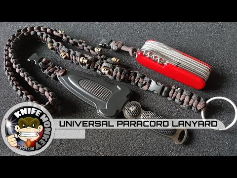 How to Make a Universal Paracord Lanyard (One lanyard for everything)
