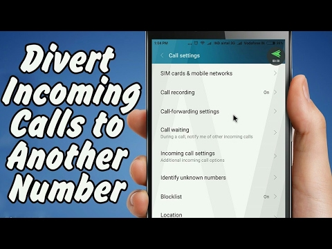 How to Divert or Forward Calls Samsung Android mobile phones
