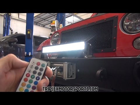 REMOTE CONTROL AUXBEAM LED LIGHT BAR - INSTALL, REVIEW and PROMO!