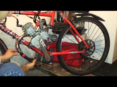80cc Motorized Bicycle Muffler Mod Fix Exhaust Repair