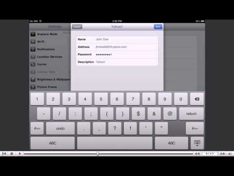 How to setup a Yahoo! email account on your iPad