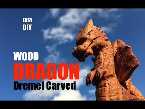 How to carve a Wood Dragon with a dremel grinder