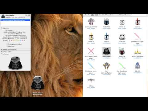 How to change icons in Mac OSX Lion