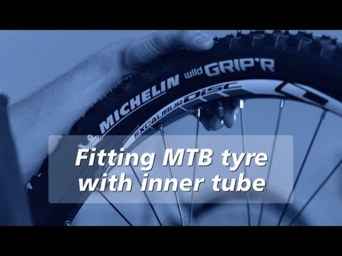 How to Mount a  Michelin MTB Tire With Inner Tube - Michelin Bike