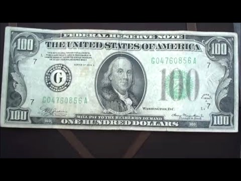I JUST FOUND 1934 A $100 BILL currency collectors ULTIMATE FIND