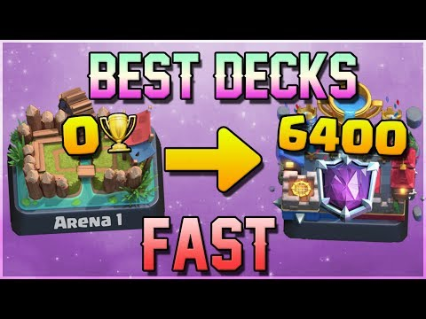 BEST DECKS FOR TROPHIES! Clash Royale - Top Decks Trophy Pushing