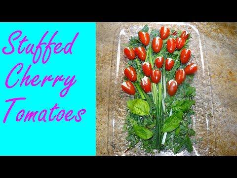 Stuffed Tomatoes - Herbed Cream Cheese Stuffed Cherry Tomato