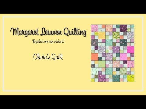 Cutting Fabric Olivia's Quilt Part 2