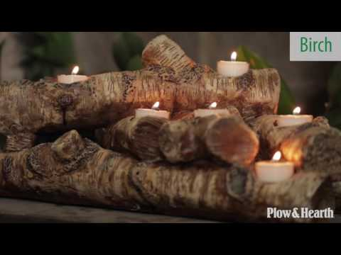 Logs Hearth Candle Holder SKU# 13941 - Plow & Hearth