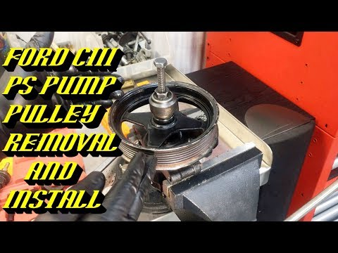 Ford Quick Tips #82: Ford CIII Power Steering Pump Pressed Pulley Removal and Installation Procedure