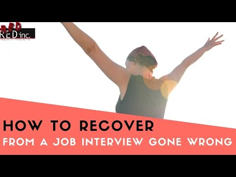 Job Interview Skills: How to Recover From the 2 Ways An Interview Can Go Wrong