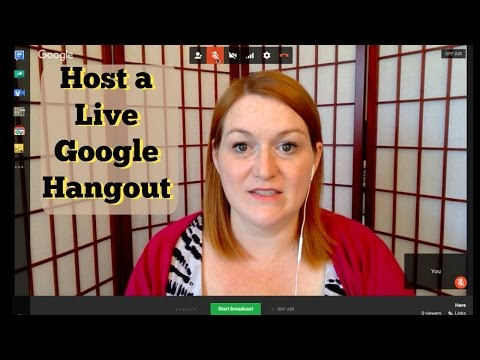 How to Host a YouTube Live Event - How to Host a Google Hangout - On Air Broadcast Live Stream