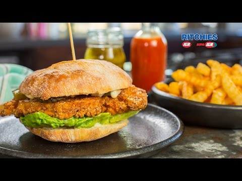 Southern fried chicken burgers