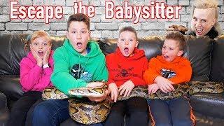 Escape the Babysitter! Ninja Kidz vs Babysitter Escape Room!