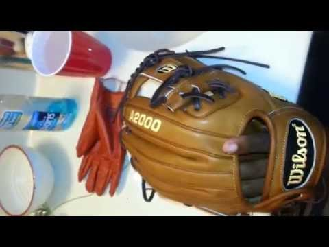 How to break in a baseball glove: Day 1.