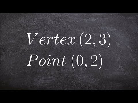 Write the equation of a parabola given a vertex and point