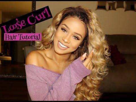 Loose Curl Hair Tutorial | Jilly Anais