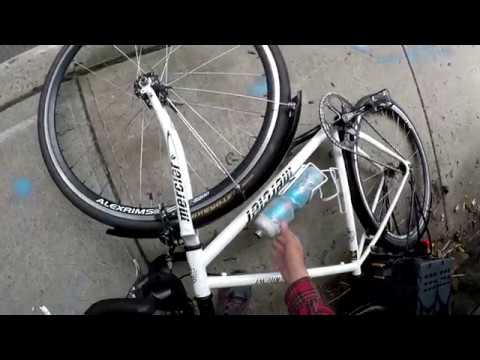 September 2, 2017 Cycling Clips - Leg Cramp, Cyclist falls, Pushing a steep hill in NYC