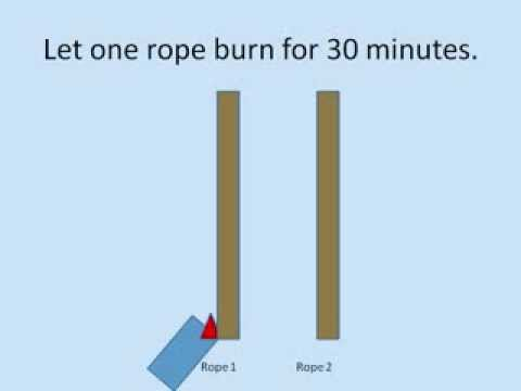Fast IQ test with two ropes