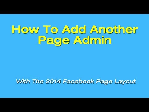 How To Add A Page Admin With The New Facebook Page Layout