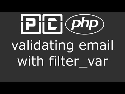 PHP beginners tutorial 55 - validating email with filter var