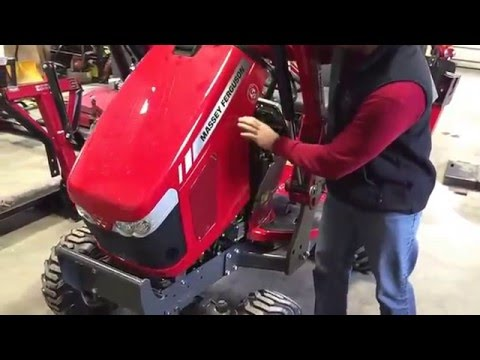 How to install a block heater to your tractor - Massey Ferguson GC series1