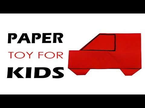 How to Make a Origami Car - Origami Paper Folding Instructions Step by Step - Paper Toys For Kids