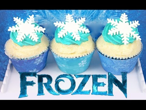 FROZEN Cupcakes - Anna & Elsa Inspired Disney Frozen Cup Cakes by Cupcake Addiction