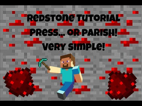 MINECRAFT REDSTONE MINIGAME (PRESS... OR PERISH!) | ALL VERSIONS | Redstone Tutorial #2