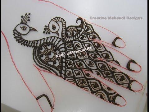 Mehndi Army : Watch unique cute peacock bird henna mehndi design for back hand