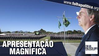Milhares de militares fazem apresentação magnífica durante presença do presidente Bolsonaro