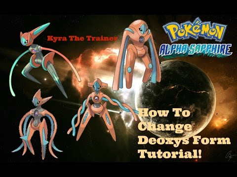 How To CHange Deoxys Form In ORAS Tutorial!