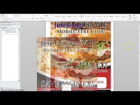 HOW TO MAKE FLYERS WITH WORD