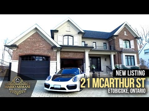 JUST LISTED! Luxury Property at 21 McArthur St in Etobicoke (Toronto, Canada)