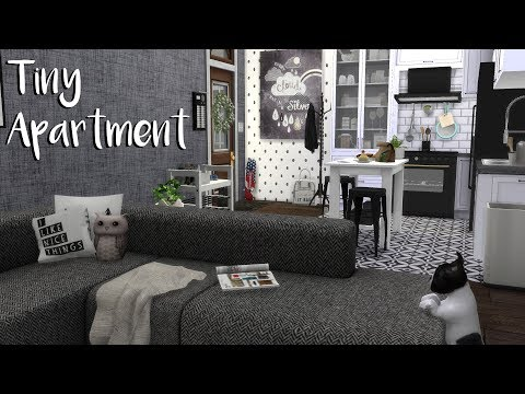 The Sims 4: Speed Build- TINY APARTMENT + CC List