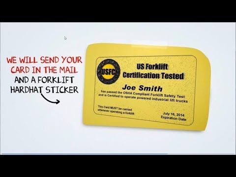 Online Forklift Certification - USforkliftCertification.com