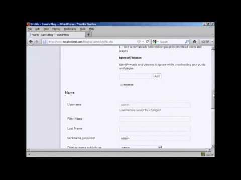 Change Your Login Password Through Wordpress Admin