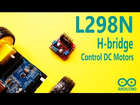 Arduino Tutorial - DC motor control and PWM signal with L298N H-bridge