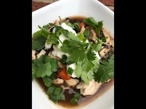 Black Bean and Chicken Soup - Simple, Fabulous Homemade Black Bean Soup