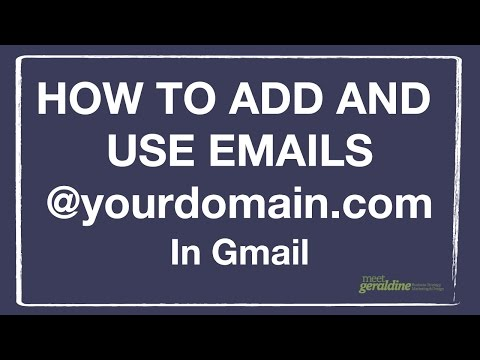 How To Add Emails Ending in Your Domain Name In Gmail | Tutorial