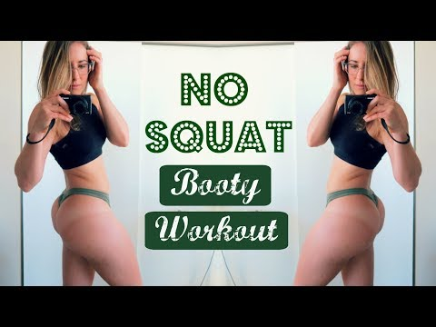 NO SQUAT (or lunge) GLUTE WORKOUT // plus 10 min HIIT Cardio FINISHER