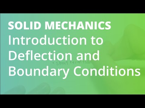 Introduction to Deflection and Boundary Conditions | Solid Mechanics